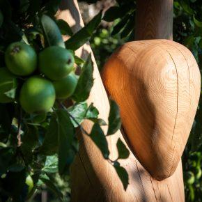 Neue Skulptur aus Holz – Waldfee