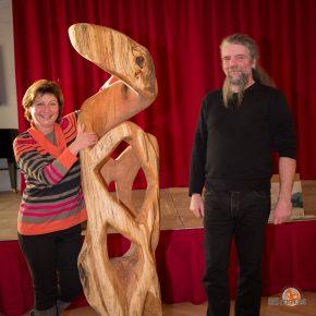 Versteigerung meiner Skulptur beim Kulturherbst Eichgraben 2016