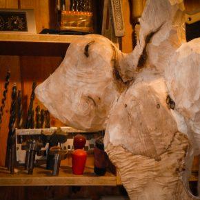 Aus der Werkstatt… Skulptur aus Weidenholz